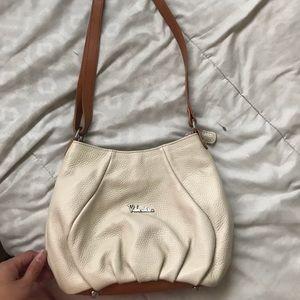 Beige Valentina crossbody/shoulder purse